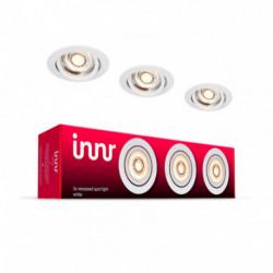 INNR - Metal recessed ceiling light - Pack of 3 - Warm white - 2700K