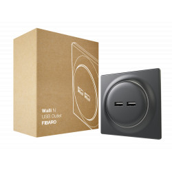 FIBARO - Walli N USB Outlet Anthracite
