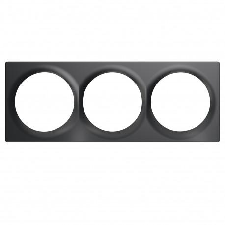 FIBARO - Triple Cover Plate Anthracite