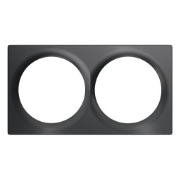 FIBARO - Double Cover Plate Anthracite