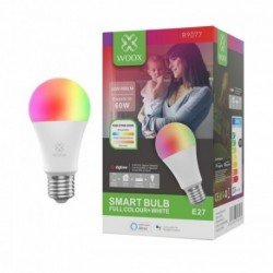 WOOX - Zigbee E27 RGB + CCT smart bulb (works with Google Assistant and Amazon Alexa)