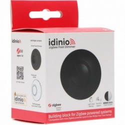 IDINIO - Zigbee LED Foot Dimmer Black + White (Philips Hue compatible)