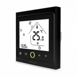 MOES - Black Zigbee Smart Thermostat for Electric floor Heating 16A