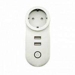 MOES - Zigbee 3.0 connected plug + 2 controllable USB ports (SCHUKO version)