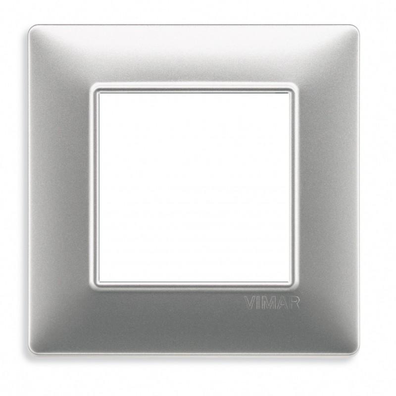Vimar Cover Plate Plana 2 Modules Technopolymer Silver