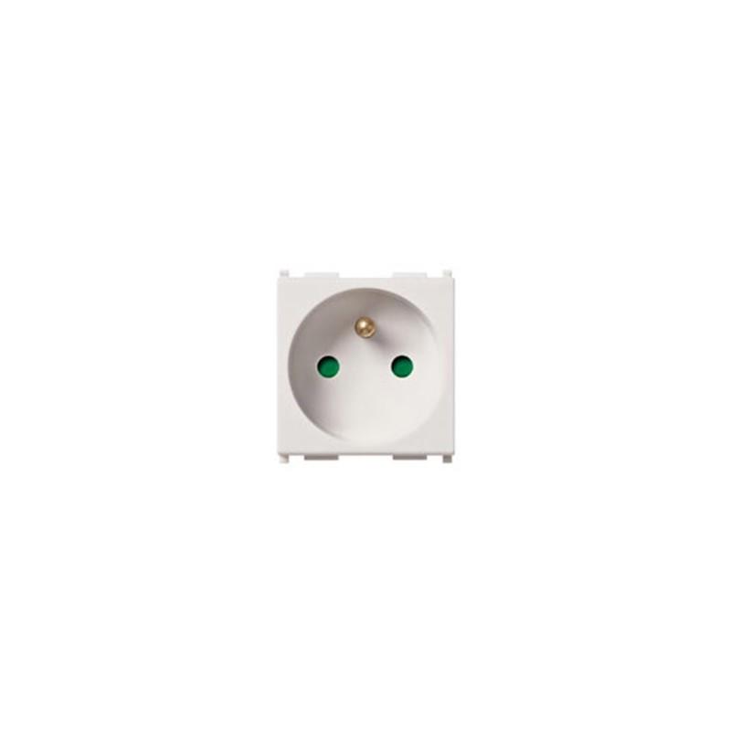 Vimar Plug Sicurity 2p T16a French White Plana Smarthome