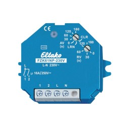 ELTAKO Actionneur relais temporisé pour commande par carte d'hôtel ou détecteur de fumée
