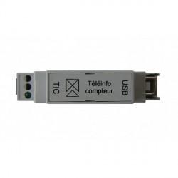 Interface de téléinformation USB RAIL DIN pour 1 compteurs