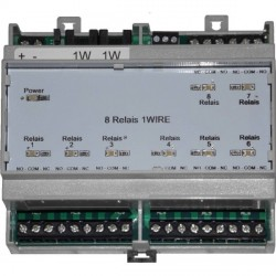 Interface 8 relais 1-Wire Rail DIN
