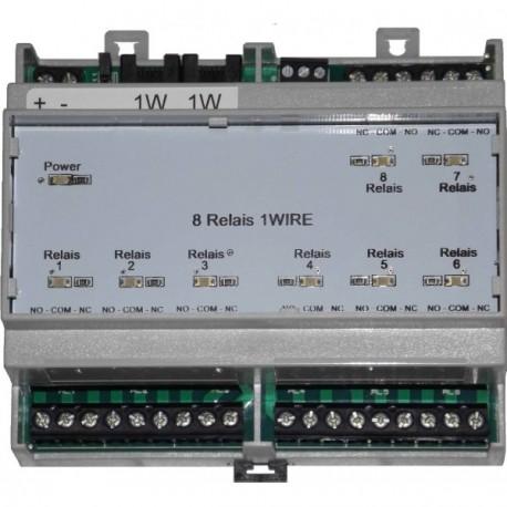 Interface 8 relais 1-Wire Rail DIN
