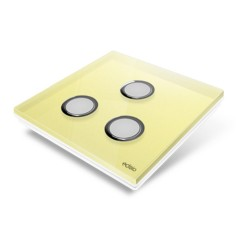 EDISIO - Cover Plate Diamond yellow 3 Channels