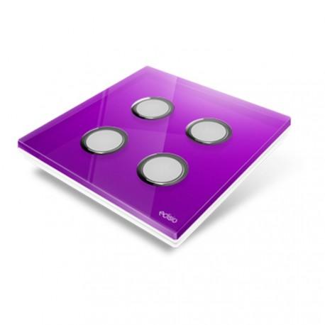 EDISIO - Cover Plate Diamond purple 4 Channels