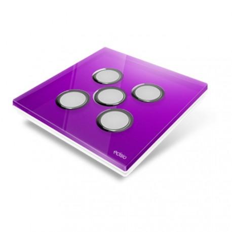 EDISIO - Cover Plate Diamond purple 5 Channels