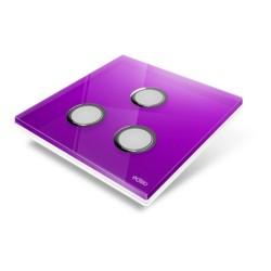 EDISIO - Cover Plate Diamond purple 3 Channels