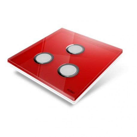 EDISIO - Cover Plate Diamond red 3 Channels