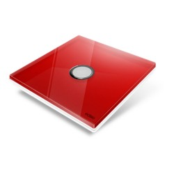 EDISIO - Cover Plate Diamond red 1 Channels