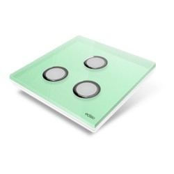 EDISIO - Cover Plate Diamond light green 3 Channels