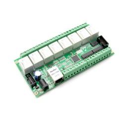 WIFIPOWER - Carte relais 8 entrées/sorties Ethernet