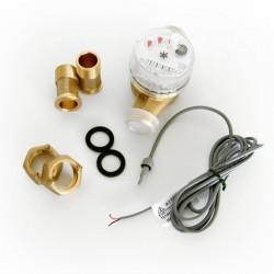 GIOANOLA Compteur d'eau chaude à impulsion - 3/4p 1 imp/litre