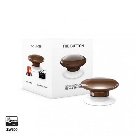 FIBARO - The Button Z-Wave+ ZW5 - Brown