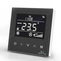MCOHOME - Thermostat pour ventilo-convecteur 4 tubes Z-Wave+, noir