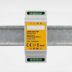 EUTONOMY - Adaptateur euFIX DIN pour Fibaro FGS-213 (sans boutons)