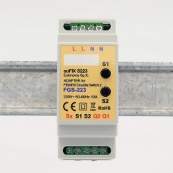 EUTONOMY - Adapter DIN for Fibaro Double Switch FGS-223 with buttons