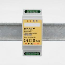 EUTONOMY - Adaptateur euFIX DIN pour Fibaro FGS-223 sans boutons)