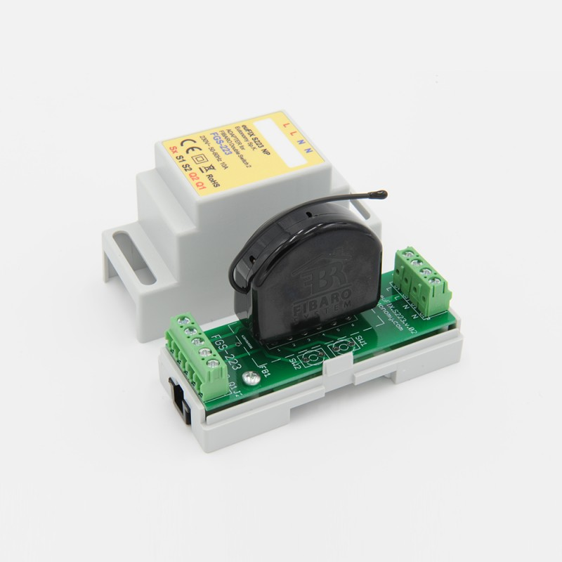 Eutonomy Adapter Din For Fibaro Relay Switch Fgs 223