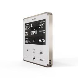 HELTUN - Thermostat Z-Wave+ pour chauffage électrique (blanc/argent)