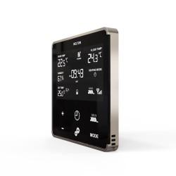 HELTUN - Thermostat Z-Wave+ pour chauffage électrique (noir/argent)