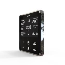 HELTUN - Thermostat Z-Wave+ pour chauffage électrique (noir/chrome)