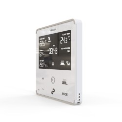 HELTUN - Z-Wave+ Heating thermostat (white glass and silver frame)