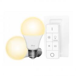 TRUST - Pack 2 Ampoules E27 Blanche + Télécommande ZIGBEE