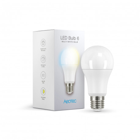 AEOTEC - Ampoule LED blanche Z-Wave+ LED Bulb 6 Multi-White