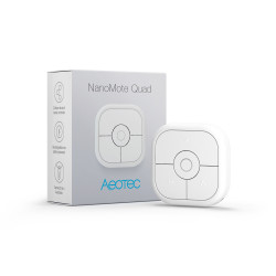 AEOTEC - Télécommande 4 boutons Z-Wave+ NanoMote Quad