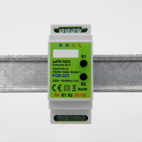 EUTONOMY - Adaptateur euFIX DIN pour Fibaro FGR-222 (avec boutons)