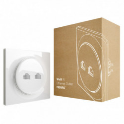 FIBARO - Prise murale 2 ports Ethernet Fibaro Walli N Ethernet Outlet