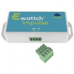 Ewattch - IMPULSE capteur 2 en 1, téléinformation et impulsion, ENOCEAN