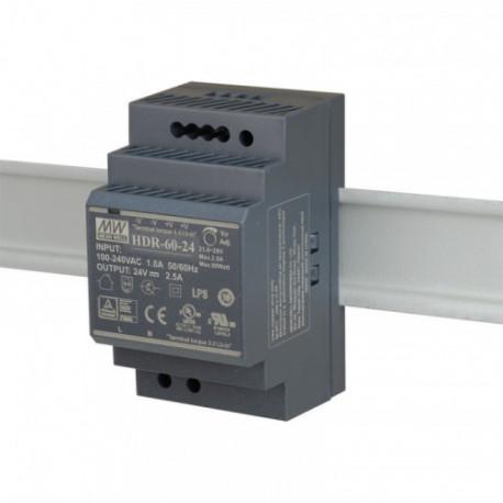 MEANWELL - Alimentation 24V/2,5A format Rail DIN