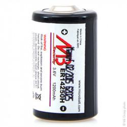 MICROBATT - Lithium Battery ER14250 1/2AA 3.6V 1.2Ah