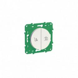 SCHNEIDER ELECTRIC - Interrupteur double sans fil sans pile pour commande scène entrée/sortie (logement)