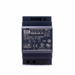 MEANWELL - 12V/4,5A Ultra slim DIN rail power supply