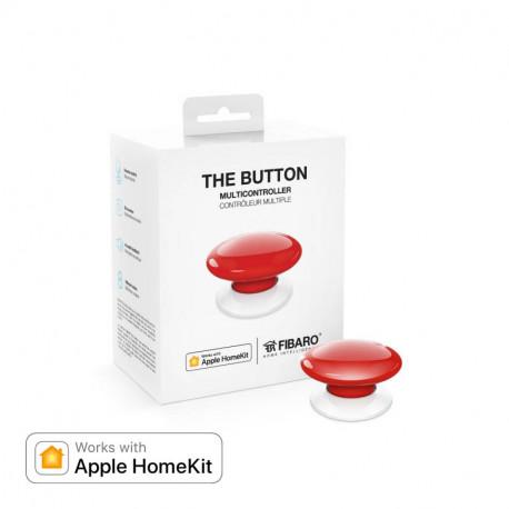 FIBARO - Contrôleur de scènes Fibaro Button Bluetooth HomeKit, rouge