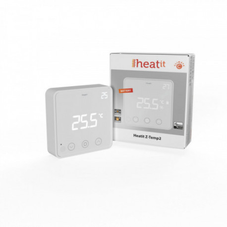 HEATIT CONTROLS - Z-TEMP2 Z-Wave+ thermostat for waterbased heating
