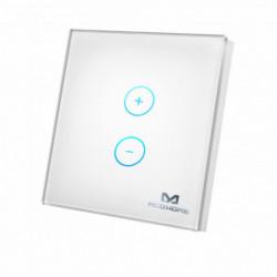 MCOHOME - Interrupteur variateur tactile en verre Z-Wave+, blanc