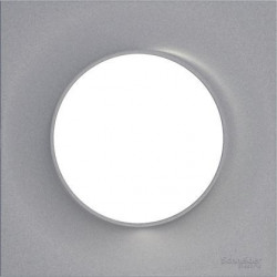 SCHNEIDER ELECTRIC Finition plate for ODACE wall switch (Alu)