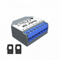 SHELLY - WiFi-operated Energy Meter  + 2 clamps 50A