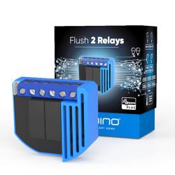 QUBINO - Micromodule commutateur 2 relais et consomètre Z-Wave+ ZMNHBD1