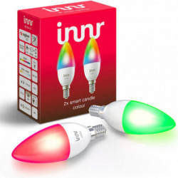 INNR - Connected bulb type E14 - ZigBee 3.0 - Pack of 2 bulbs - Multicolor RGBW + White adjustable - 2200K to 6500K